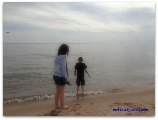 Melanie S. Pickett, beach