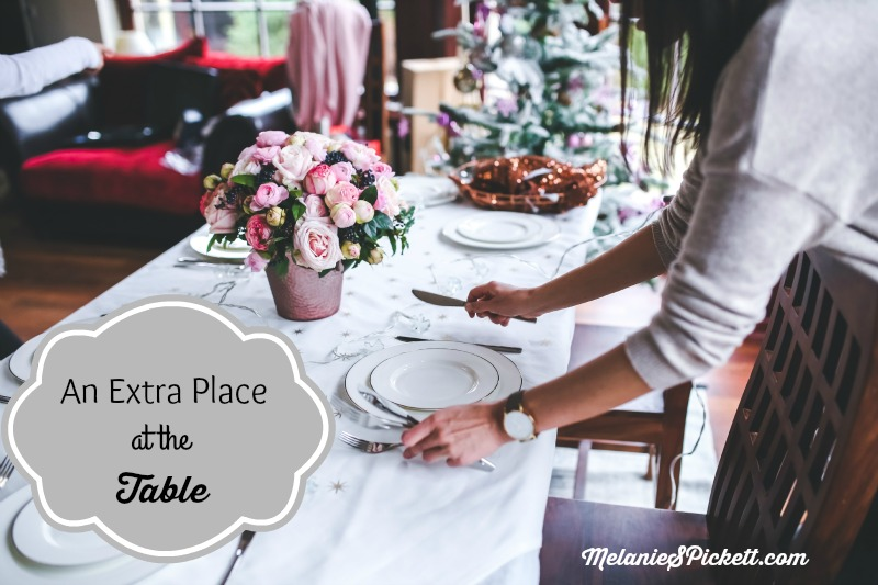 Melanie S. Pickett, an extra place at the table